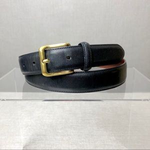 COACH #5950 Black Burnished Cowhide Leather Belt